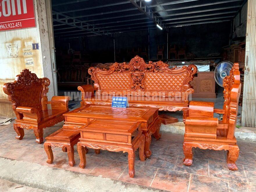 boban ghe hoang gia go huong da 880x660 - Bộ bàn ghế hoàng gia Luis 6 món gỗ hương đá