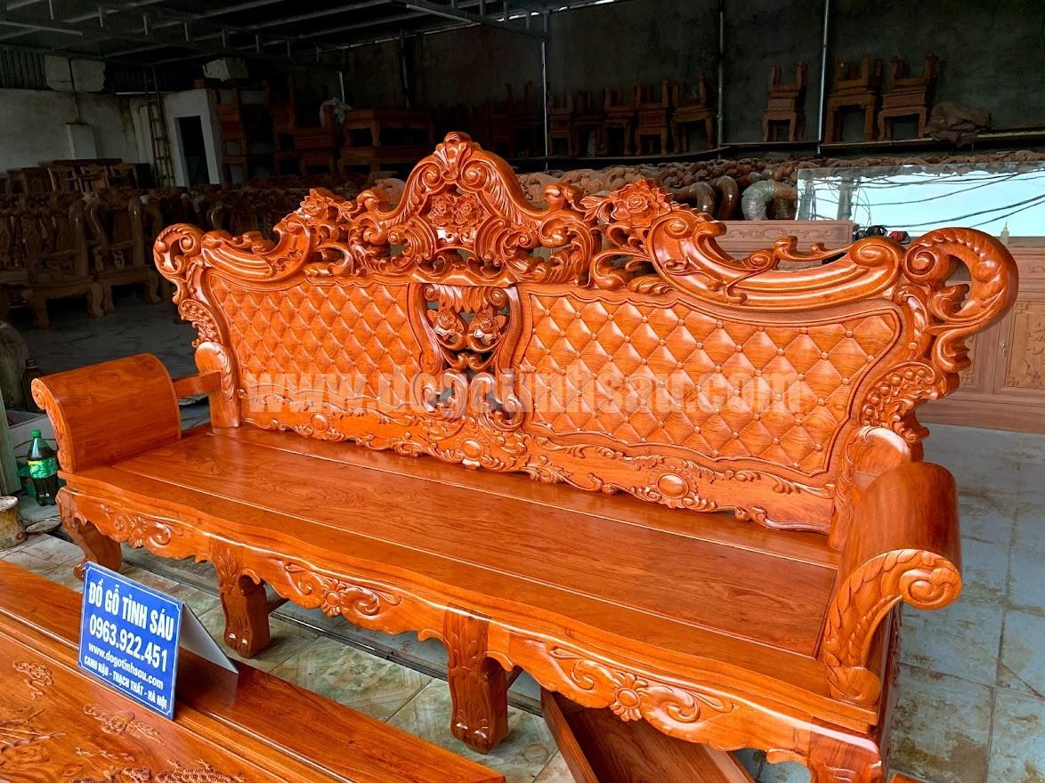 boban ghe hoang gia go huong da nam phi - Bộ bàn ghế hoàng gia Luis 6 món gỗ hương đá