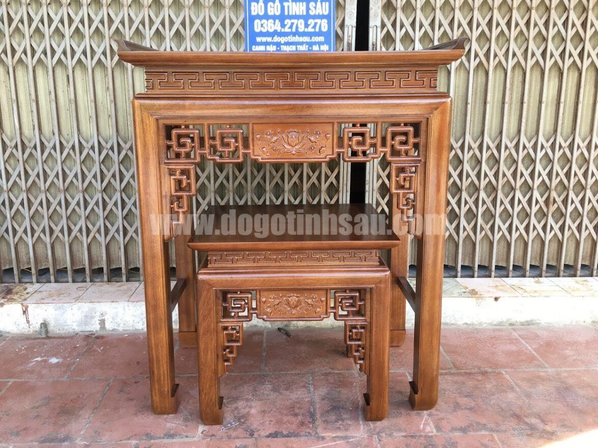 cap ban tho chung cu an gian go gu 1174x881 - Cặp bàn thờ chung cư gỗ gụ án gian + bàn cơm 1m07