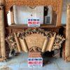 cuon thu cau doi go gu day 5cm 100x100 - Bộ cuốn thư câu đối mai hóa long gỗ mít ta (hàng dày 5cm)