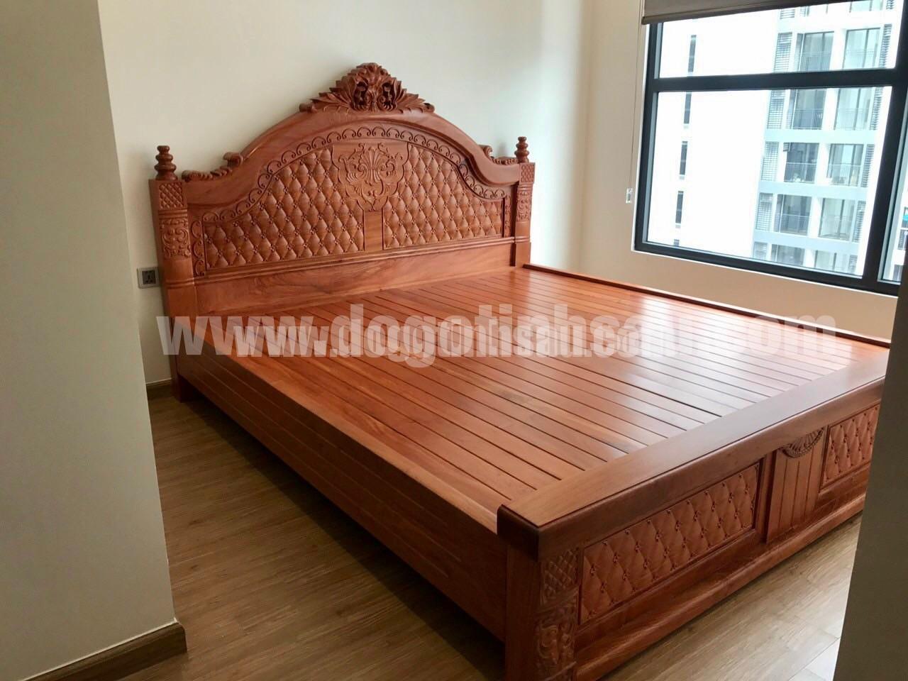 giuong go gu dep - Kinh nghiệm chọn mua giường gỗ gụ đẹp chuẩn đến từng cm