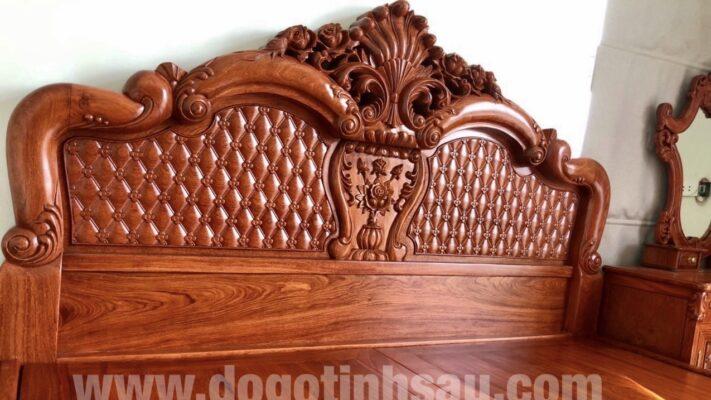 giuong go huong da 711x400 - Lý do các gia đình nên chọn giường gỗ hương đá?