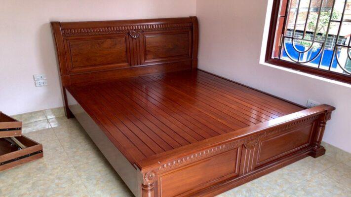 giuong ngu go gu 711x400 - Kinh nghiệm chọn mua giường gỗ gụ đẹp chuẩn đến từng cm