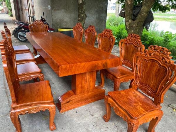 mau ban ghe an go huong - Kinh nghiệm chọn mua bàn ghế ăn gỗ hương chất lượng