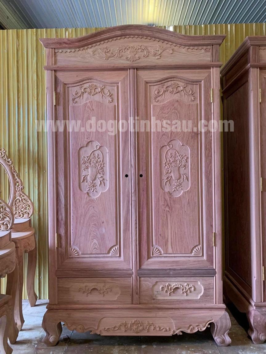 tu ao go huong da 2 buong - Tại sao ngày càng nhiều khách hàng quan tâm lựa chọn tủ áo gỗ hương?