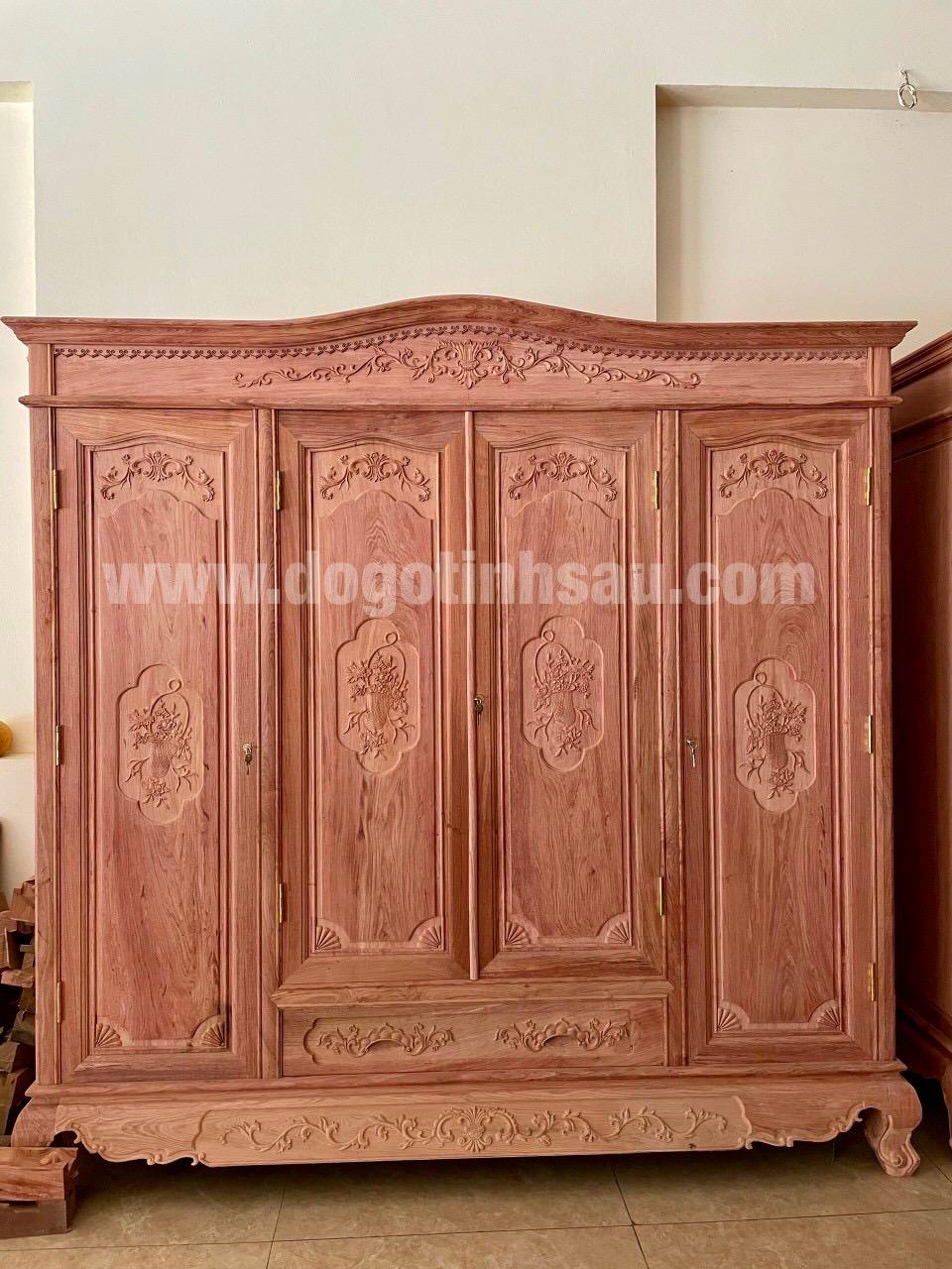 tu ao go huong da 3 buong 4 canh - Tại sao ngày càng nhiều khách hàng quan tâm lựa chọn tủ áo gỗ hương?