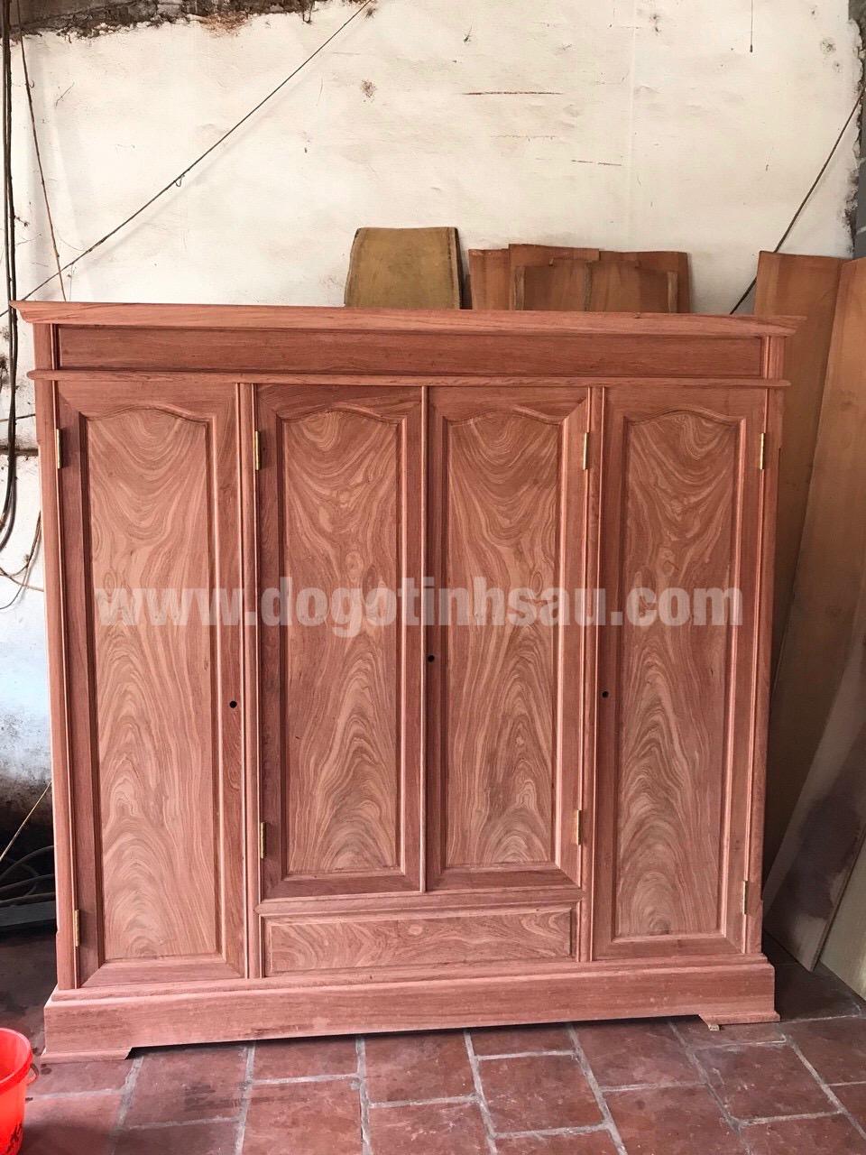 tu ao go huong da 4 canh chon van - Tại sao ngày càng nhiều khách hàng quan tâm lựa chọn tủ áo gỗ hương?